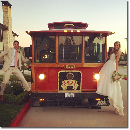 Trolley Rental For Wedding