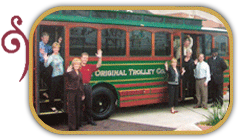 Trolley with a party