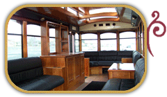 White Peral Trolley Interior
